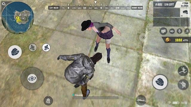 Cara menggerakkan kepala character di Rules of Survival