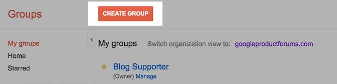 Create A Google Group