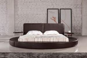 oslo round bed in chocolate
