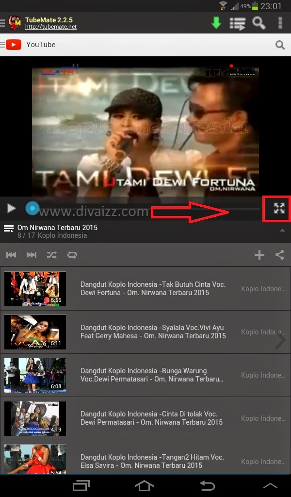 Cara Download Video Youtube di Android - www.divaizz.com