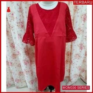 MOM330D14 Dress Hamil Menyusui Lassalle Brokat Dresshamil Ibu Hamil