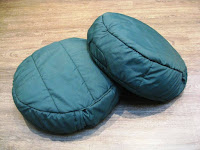 Two green cushions