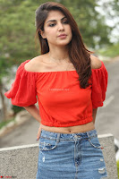 Rhea Chakraborty in Red Crop Top and Denim Shorts Spicy Pics ~  Exclusive 303.JPG