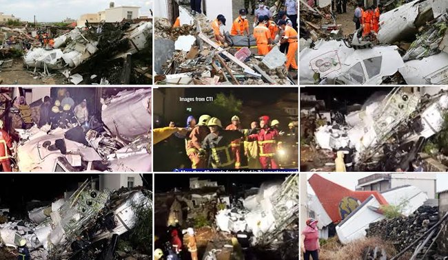 About the Crashed TransAsia Airways Plane in Taiwan