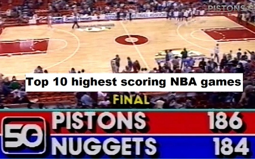 Top 10 highest scoring NBA games by team in history, Bulls on third in List.