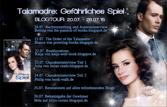 """Blogtour-Stationen von """"Talamadre: Gefährliches Spiel"""""""