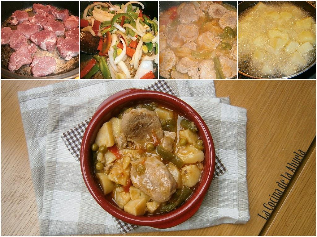 Guiso de carne con patatas.