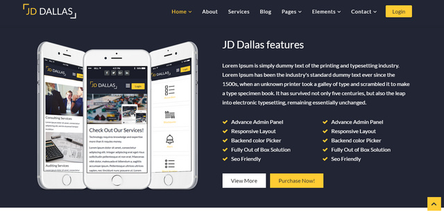JD Dallas Responsive Joomla Templates