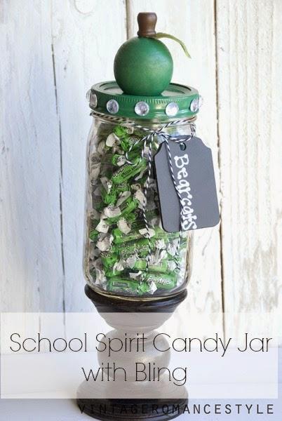 Teacher Gift Idea School Spirit Candy Jar Tatertots And Jello