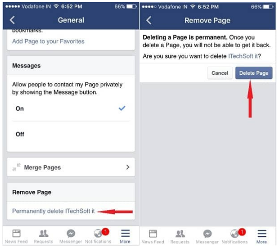 How to Delete Facebook Page on iPhone: iPad Air, iPad Mini
