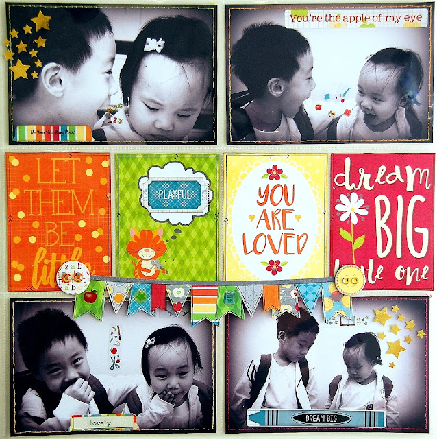 Dream Big Misc me Pages by Irene Tan using BoBunny Toy Box Collection