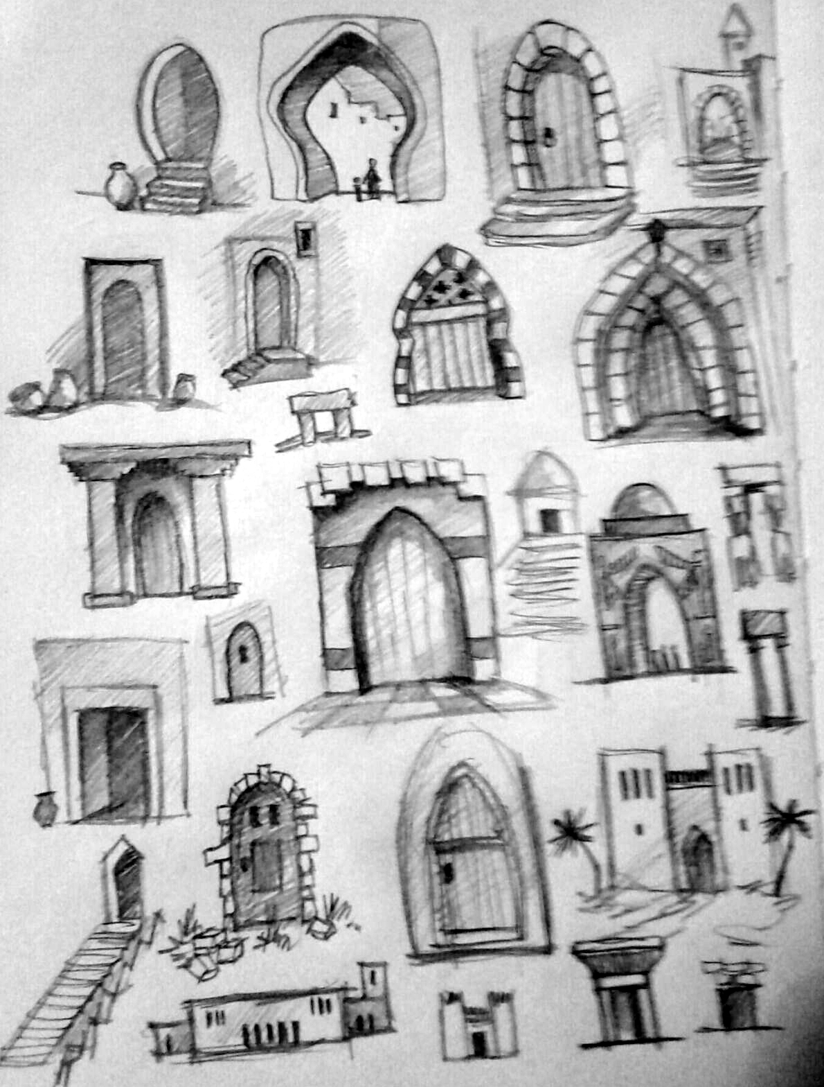 Doors - study for my coloring book Esther  sc 1 st  GhitaB & GhitaB: Ancient persian arhitecture - windows and doors