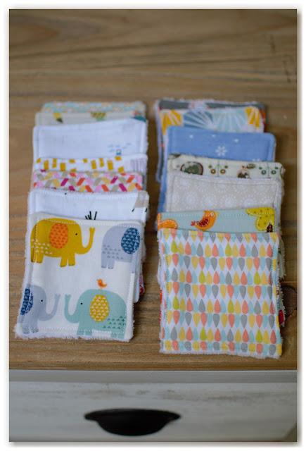 cotons lavables réutilisant des chutes de tissu