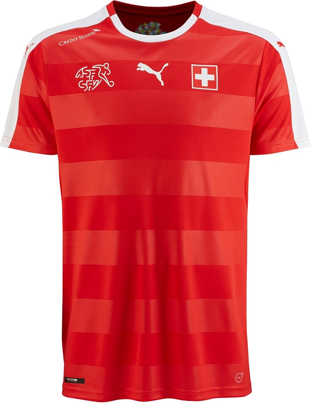 Puma divulga nova camisa titular da Suíça - Show de Camisas 6cd7e485963e8