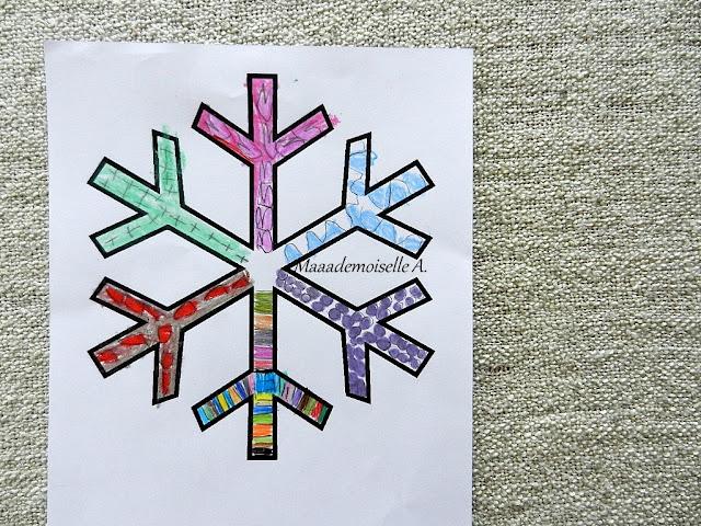    Nos activités sur les flocons de neiges - Graphisme
