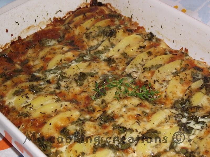 Картофи огретен * Patate gratinate al forno