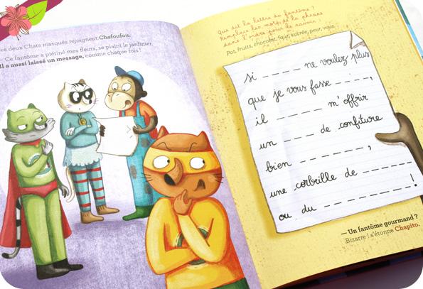 Les Chats Masqués - SOS Fantôme de Nancy Guilbert et Séverine Duchesne - éditions frimoüsse