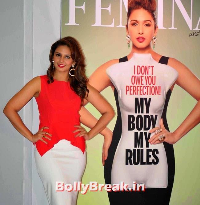 Huma Qureshi, Huma Qureshi Pics in Red Top, White Skirt for Femina Magazine Launch