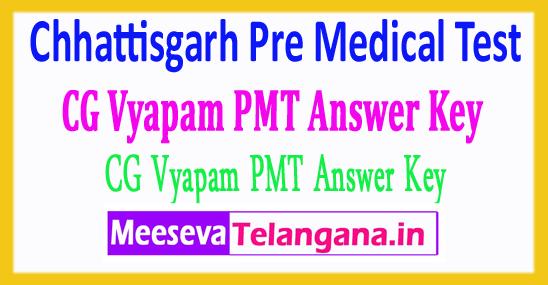 Chhattisgarh Pre Medical Test Exam Answer Key CG PMT Answer Key 2018 Download