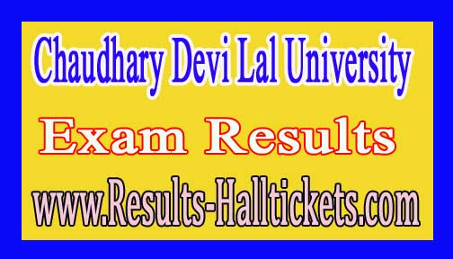 Chaudhary Devi Lal University B.A IInd Sem 2016 Exam Results