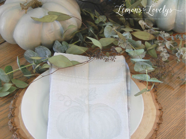 Fall Tablescape - tap to see more pictures and sources on the blog www.lemonstolovelys.blogspot.com