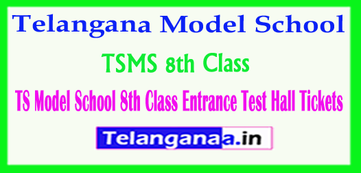 TSMS Telangana TS Model School 8th Class Entrance Test 2018 Hall Tickets Download
