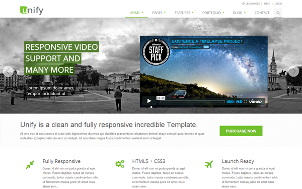 Download  Unify 1 9 4 - Responsive Website Template