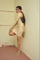 Actress Pooja Roshan Stills in Golden Short Dress at Box Movie Audio Launch  0147.JPG