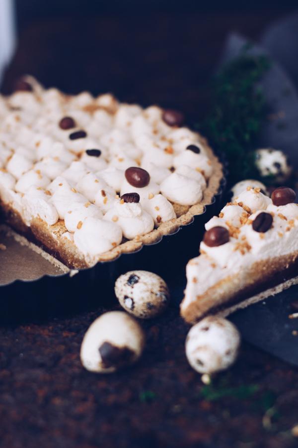 Rezept Tarte mit Kaffee und Schokolade zu Ostern, Geburtstag oder als Sonntagskuchen. titatoni.de