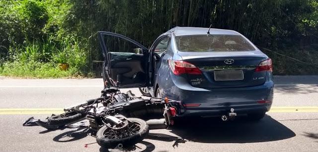 Motociclista morre em acidente na Rio-Santos em São Sebastião