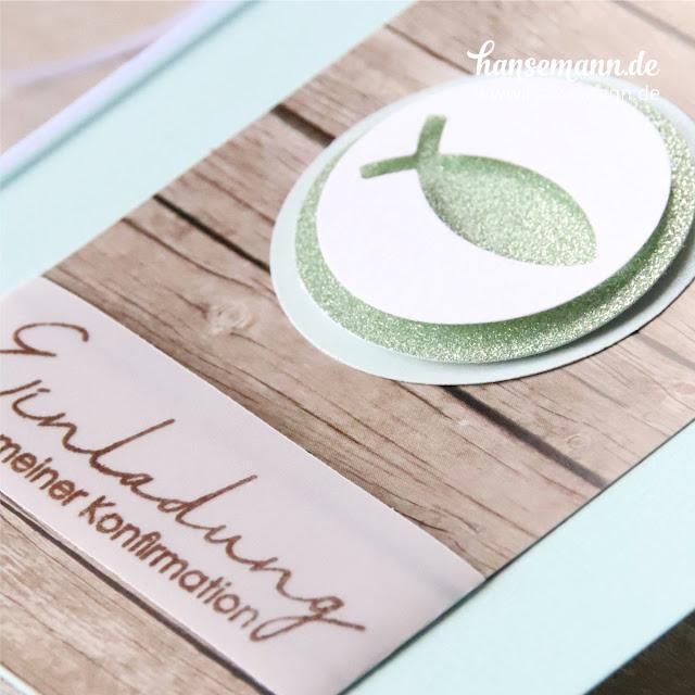 einladungskarten konfirmation & kommunion basteln in mint