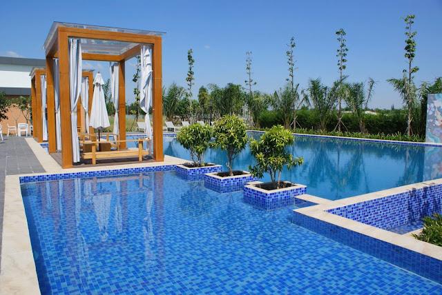 Hồ bơi đạt chuẩn Resort nghỉ dưỡng cao cấp khu Biệt thự - Nhà phố Park River Side quận 9 HCM