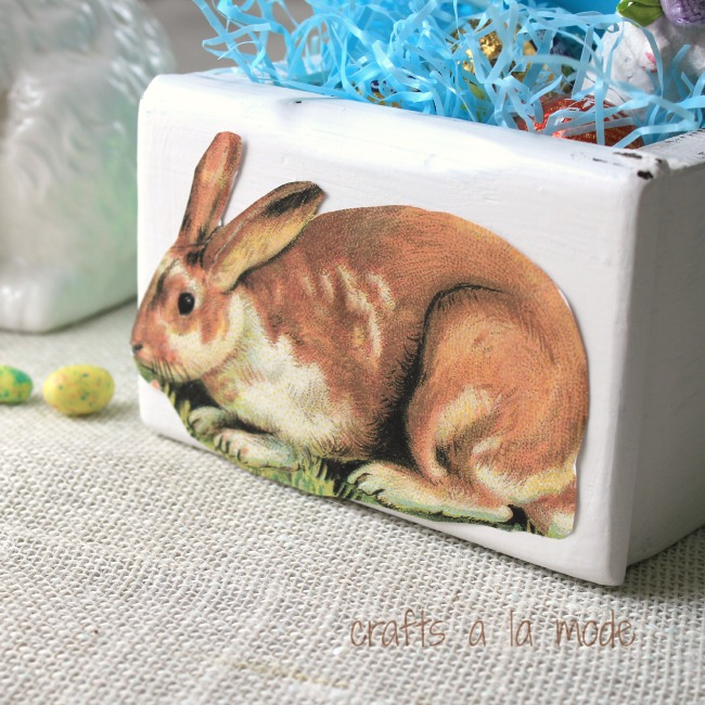 Easter bunny postcard old