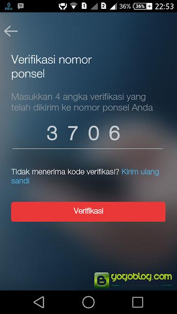Verifikasi Pendaftaran My Telkomsel