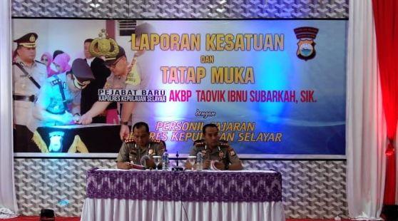 Kapolres Tegaskan Berantas Bom Ikan Dan Agenda Keamanan Pemilu 2019, Di Kab. Kep. Selayar