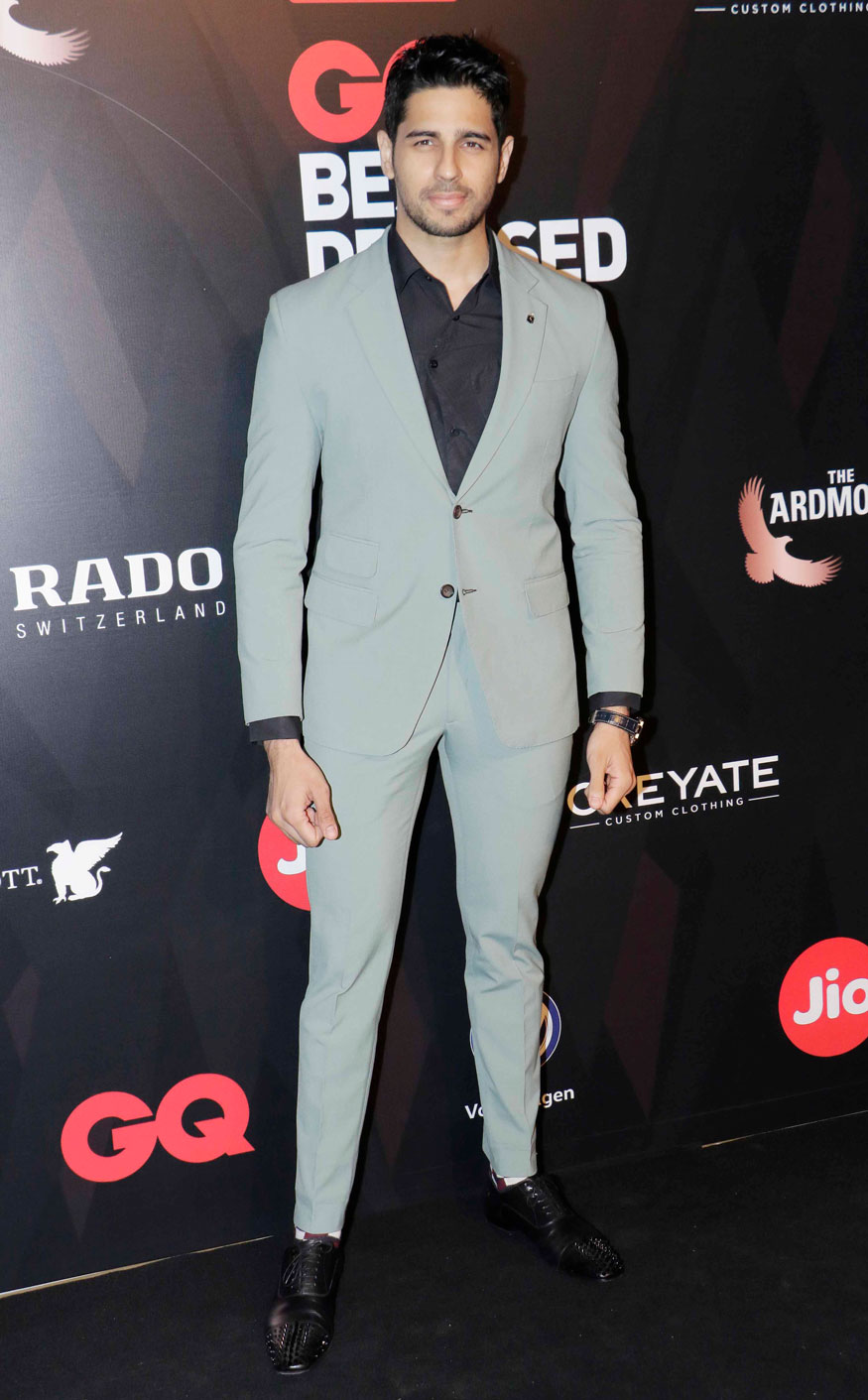Varun Dhawan and Sidharth Malhotra Attends The GQ Best Dressed Awards Event