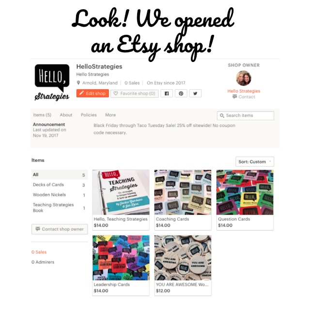 Hello Strategies Opened an Etsy Shop