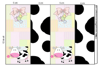 Cow and Patchwork Free Printable Labels.