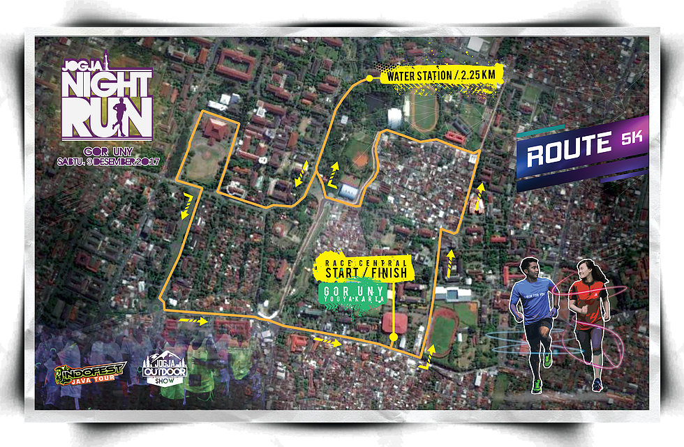 Route Jogja Night Run • 2017