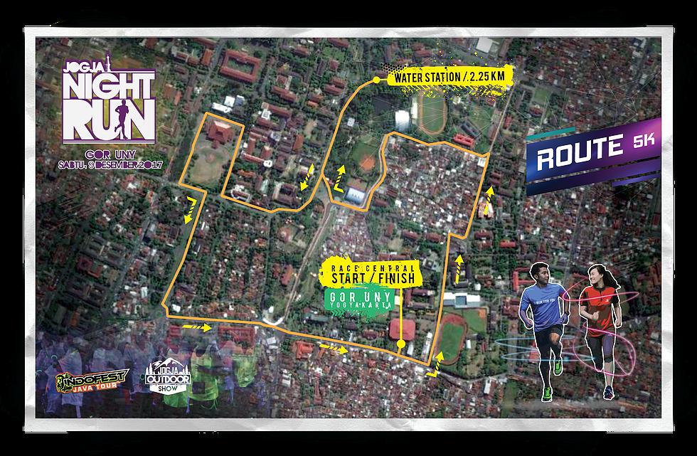 Route Jogja Night Run • 2017
