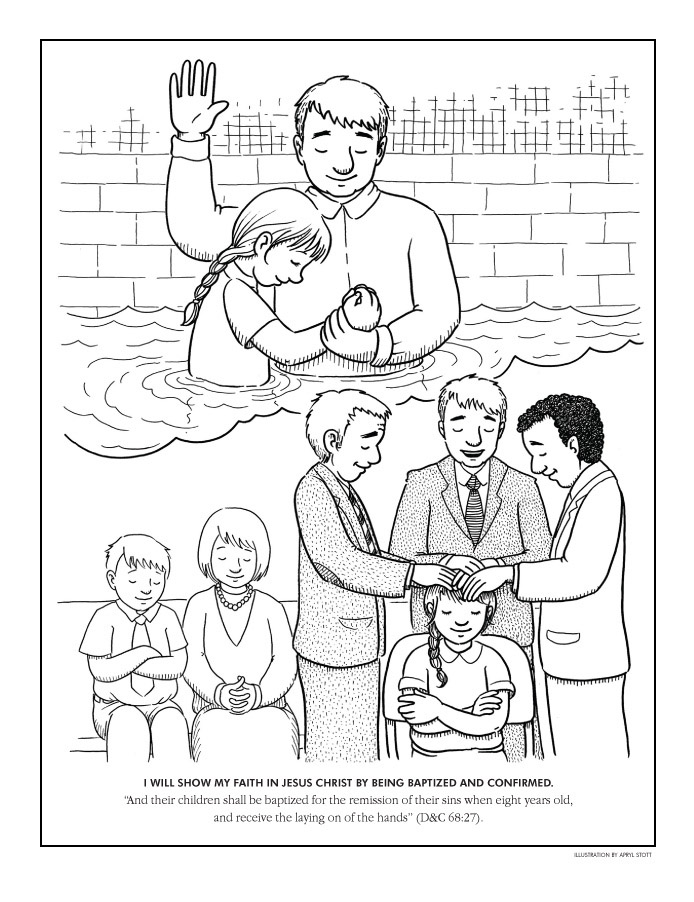 baptism coloring pages for kids - photo#13