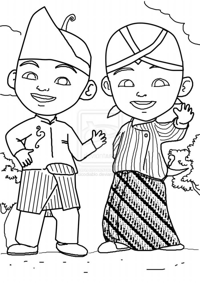 Mirzan Blog S 35 Trend Terbaru Gambar Kartun Hitam Putih Upin Ipin Ngaji