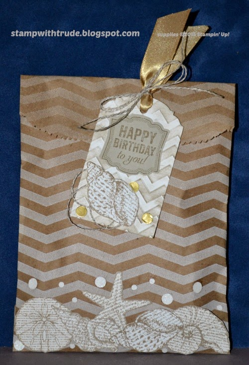 treat bag, Stampin' Up!, Trude Thoman, stampwithtrude.blogspot.com, By the Seashore, gift tag