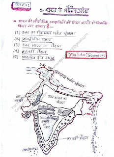 Physical Geography of India PDF Notes