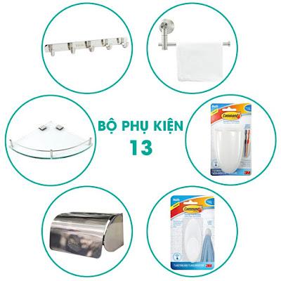 Nguyên bộ phụ kiện phòng tắm 6 món chính hãng quận 5, Tphcm