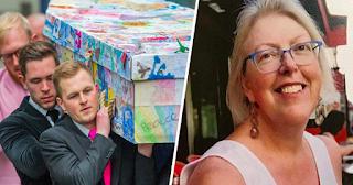 Μαθητές στόλισαν με τις ζωγραφιές τους το φέρετρο της αγαπημένης τους δασκάλας που πέθανε από καρκίνο - ΕΙΚΟΝΕΣ