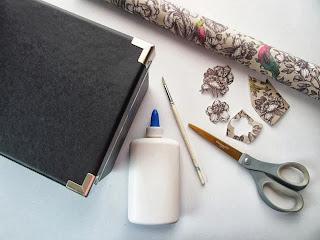 Desenli Kağıtla Sandık Süsleme