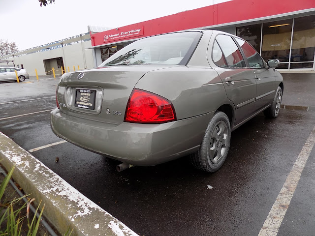 2004 Nissan Sentra with complete car paint job from Almost Everything Auto Body.