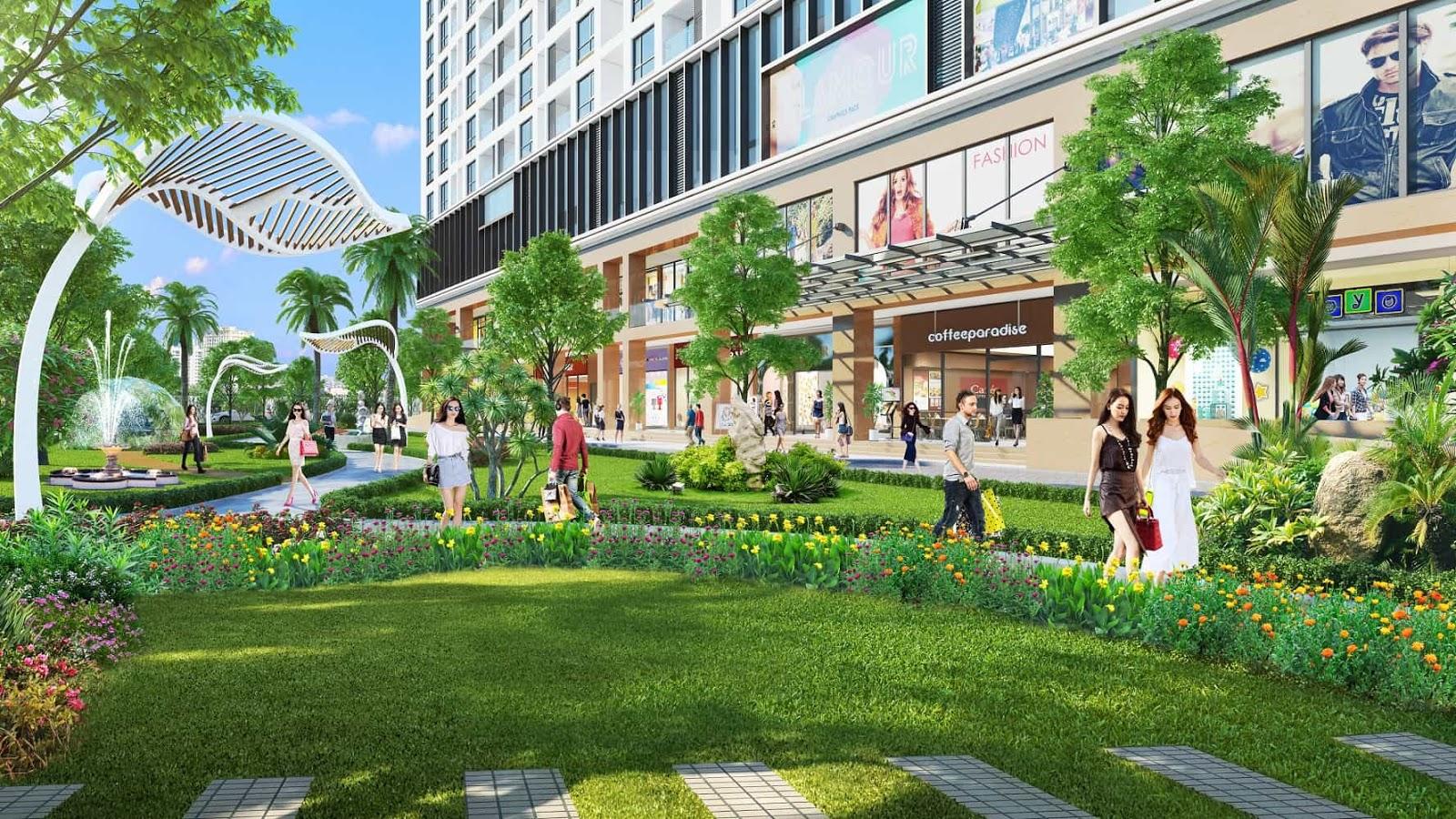 Công viên nội khu chung cư Green Pearl 378 Minh Khai