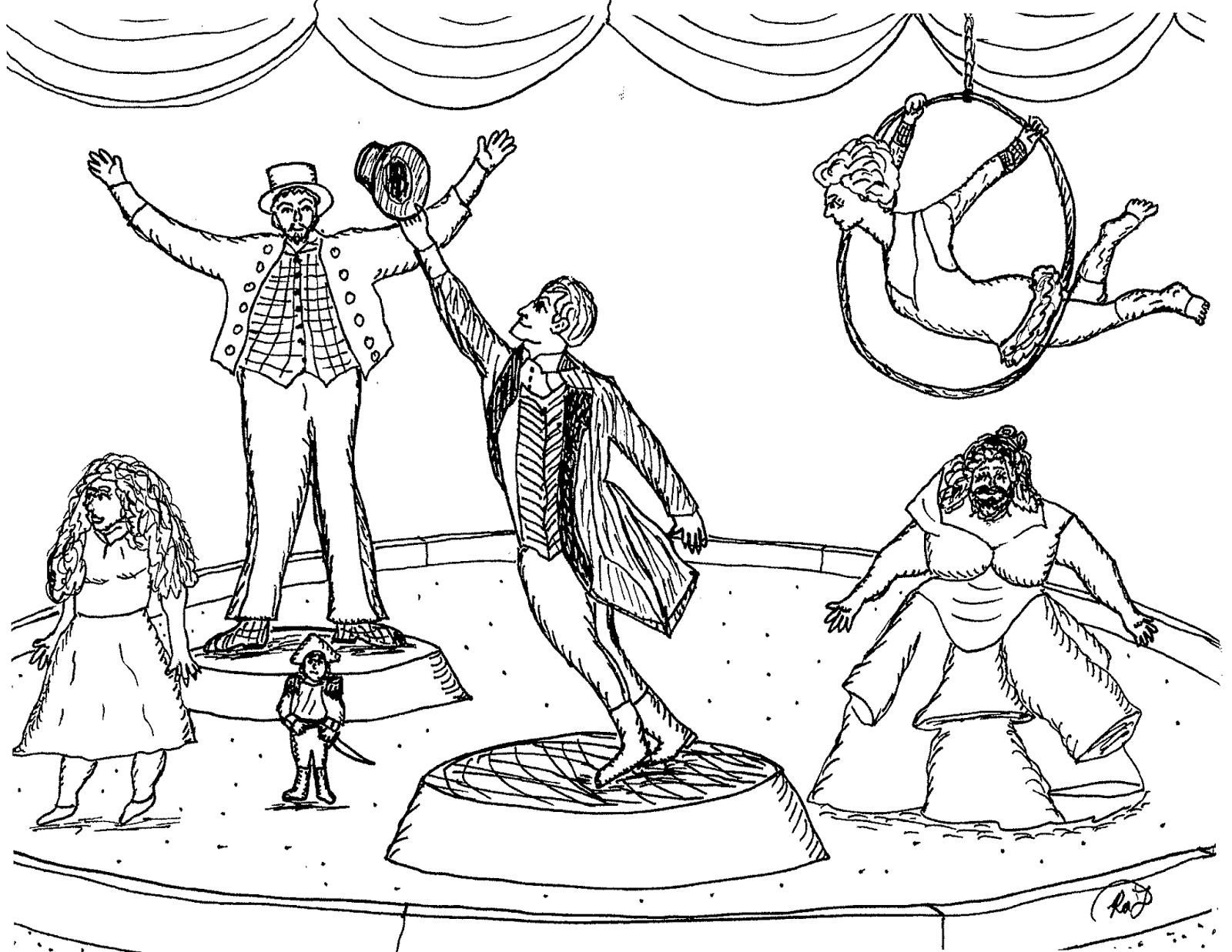 the greatest showman coloring pages | Robin's Great Coloring Pages: The Greatest Showman circus ...